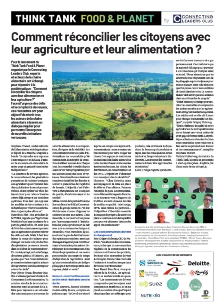 Food&Planet - Agriculture alimentation biodiversité - Article JDD